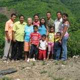 Jonathan and his family, Chalan, Colombia.