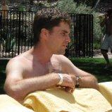 Robin at pool