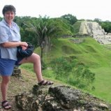 Noreen overlooking ruins