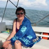 Noreen on snorkelling boat